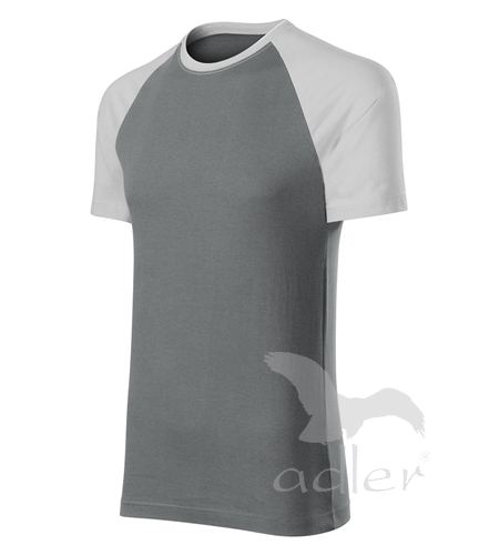 Duo tričko unisex ledově šedá L