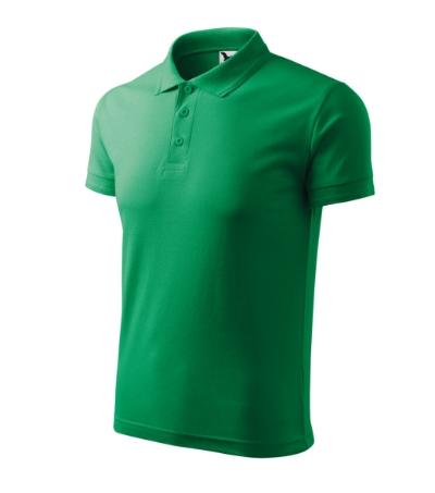 Polokošile Pique Polo 200 středně zelená XL