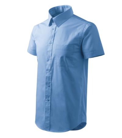 Košile pánská Shirt short sleeve nebesky modrá XL