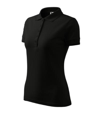 Polokošile dámská Pique Polo 200 černá L