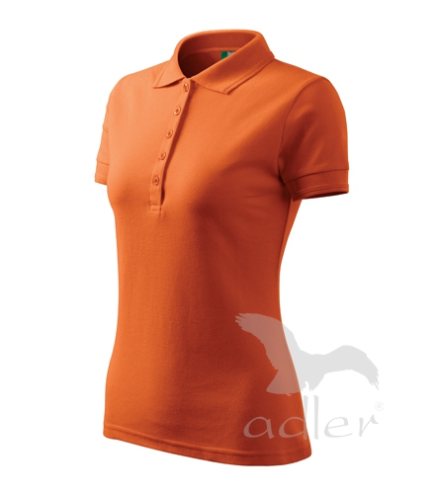 Polokošile dámská Pique Polo 200 oranžová L