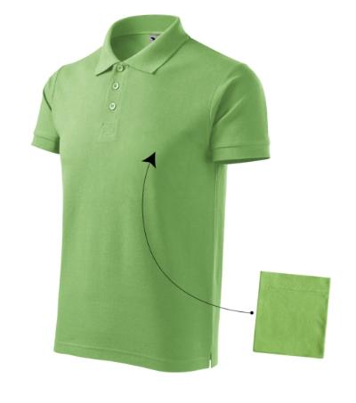 Polokošile pánská Cotton trávově zelená M