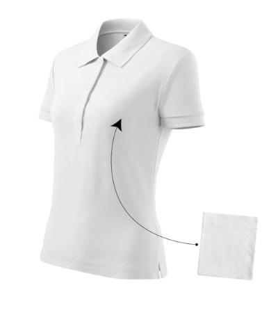 Polokošile dámská Cotton bílá XL