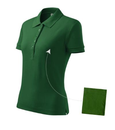 Polokošile dámská Cotton lahvově zelená L