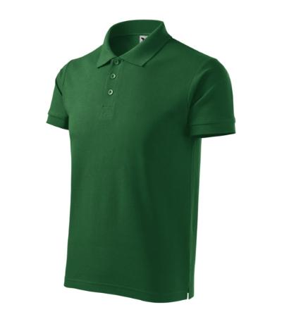 Cotton Heavy polokošile pánská lahvově zelená M