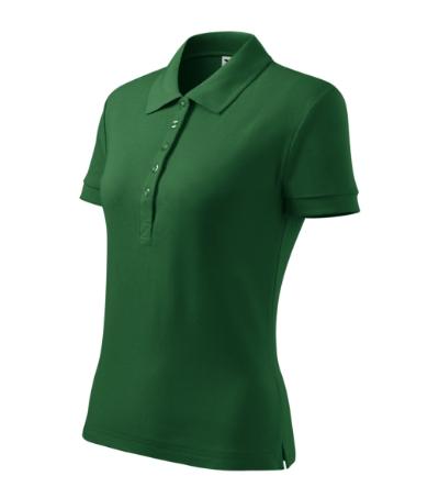 Cotton Heavy polokošile dámská lahvově zelená XL