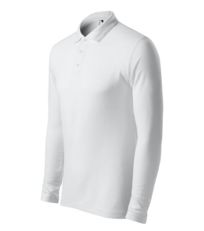 Pique Polo LS polokošile pánská bílá XXXL