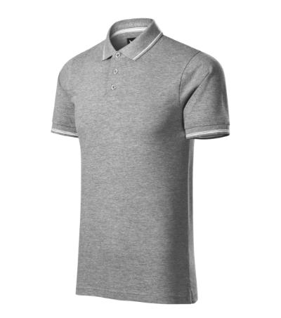 Perfection plain polokošile pánská tmavě šedý melír XL