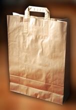 Papírové tašky o rozměru 260 x 110 x 350 mm, přírodní hnědé