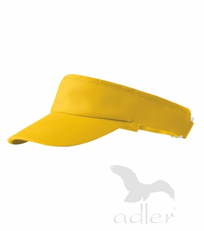 Kšilt Sunvisor žlutý, nastavitelný