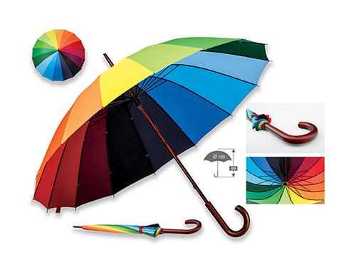 DUHA - polyesterový manuální deštník,16 panelů