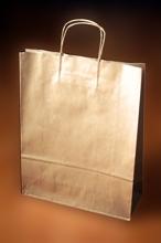 Papírové tašky o rozměru 320 x 110 x 410 mm,  kr. pap. ucho, hnědé