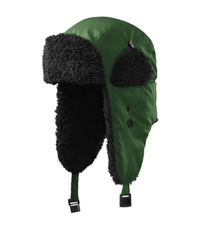 Čepice Furry lahvově zelená S