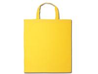 Bavlněné tašky 38 x 42 cm - žluté, krátká ucha