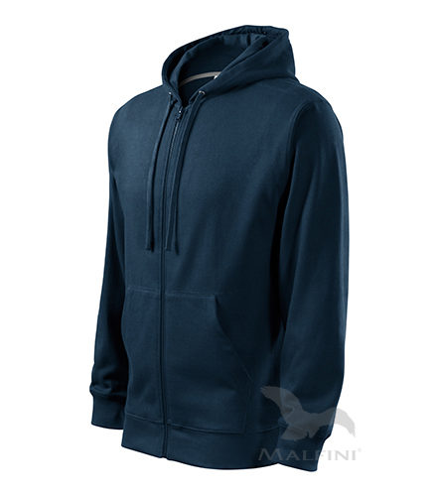 Mikina pánská Trendy Zipper námořní modrá XL