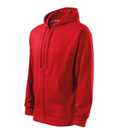 Mikina pánská Trendy Zipper červená XL