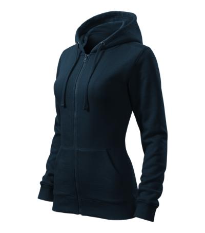 71cd2888817 Mikina dámská Trendy Zipper námořní modrá XXL