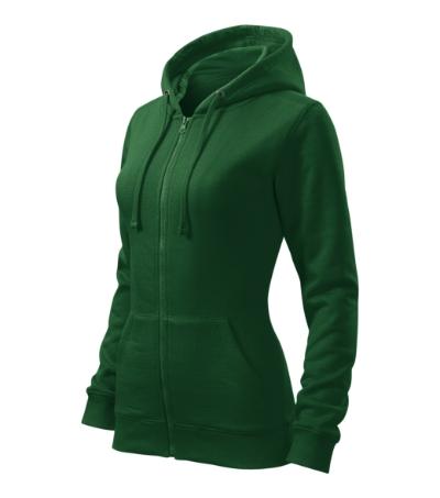 Trendy Zipper mikina dámská lahvově zelená S