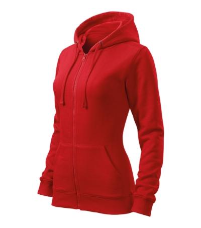 Mikina dámská Trendy Zipper červená S