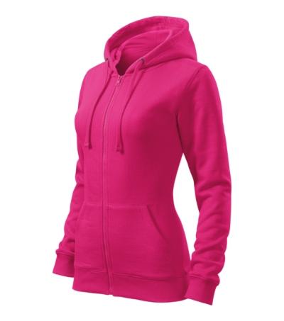 Mikina dámská Trendy Zipper purpurová XS