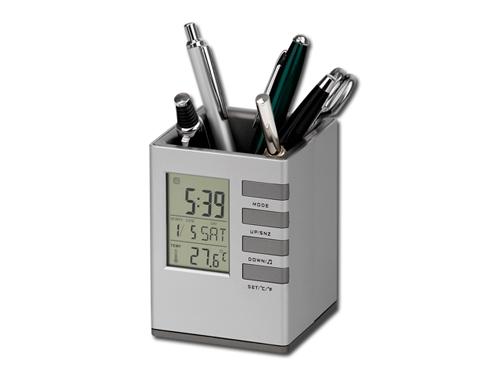 FABRIZIO - stojánek na tužky s hodinami