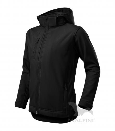 Performance softshellová bunda dětská černá 134 cm/8 let
