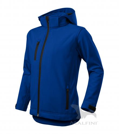 Performance softshellová bunda dětská královská modrá 134 cm/8 let