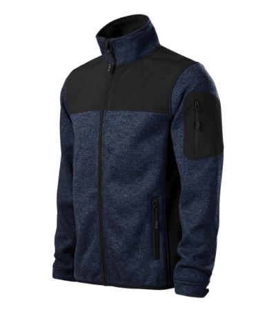 Casual softshellová bunda pánská knit blue 3XL