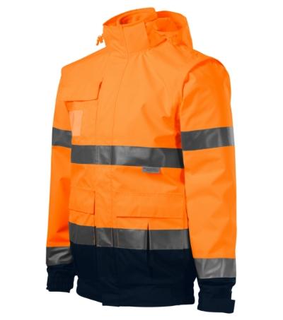HV Guard 4 in 1 bunda unisex fluorescenční oranžová XL