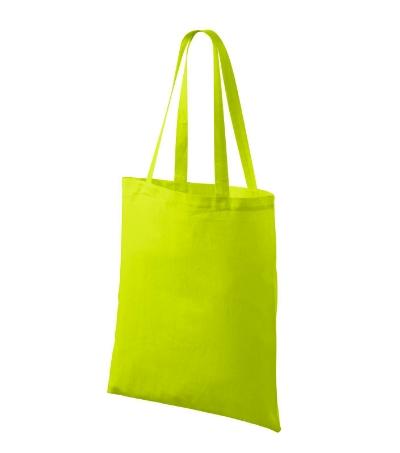 Bavlněné tašky 38 x 42 cm - limetkové, dlouhé ucho