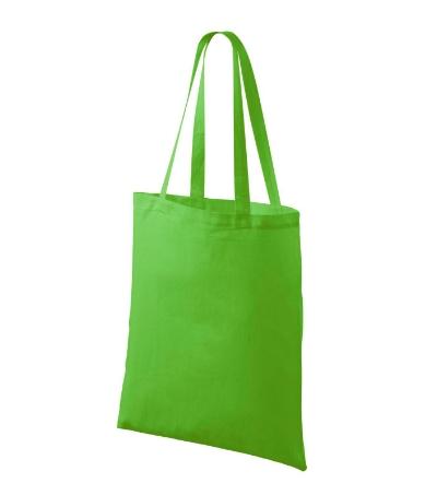 Bavlněné tašky 38 x 42 cm - apple green, dlouhé ucho