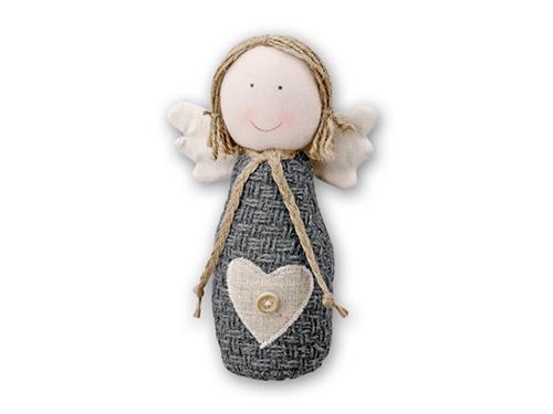 ANGELS - vánoční ozdoba textilní anděl