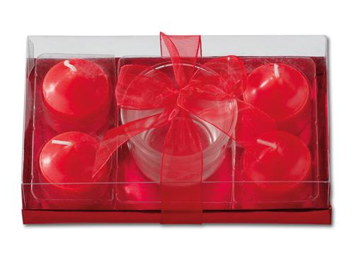 TWINKLE - vánoční sada 1 ks svícnu + 4 ks svíček