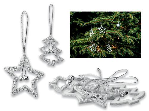 GLOTIE - vánoční ozdoby s glitry