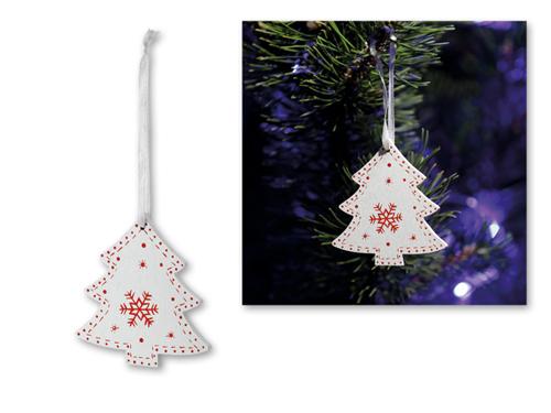 TREE CHARM - Vánoční závěsná ozdoba ze dřeva.