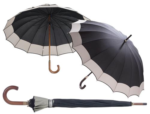 Monaco deštník s dřevěnou rukojetí