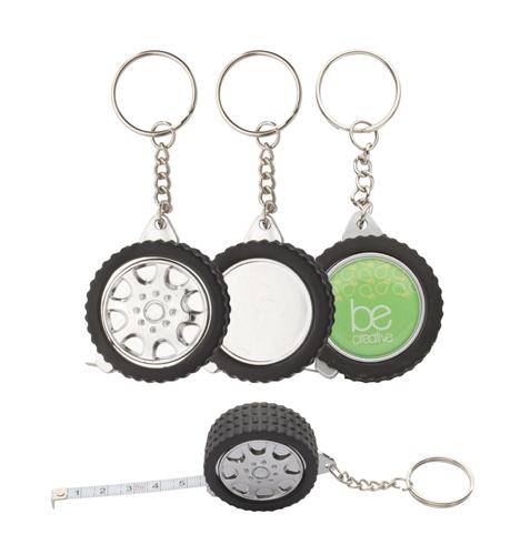 Wheel přívěšek na klíče s metrem