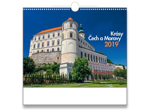 KRÁSY ČECH A MORAVY 2018 - nástěnný kalendář, 32x46 cm