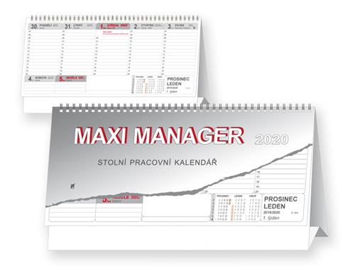 MAXI MANAGER 2018 - stolní kalendář, 32x17,5cm