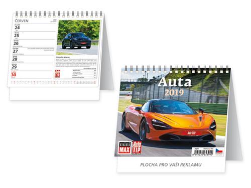 AUTA/AUTÁ - stolní kalendář 17,1x16,7