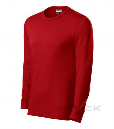 Resist LS triko unisex červená S