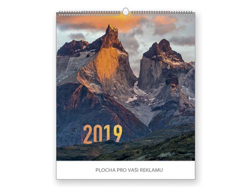 MOUNTAINS 2019 - HORY nástěnný kalendář, 45x48cm