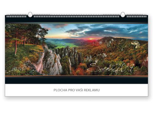 SCENIC 2018 - nástěnný kalendář, 68x33cm