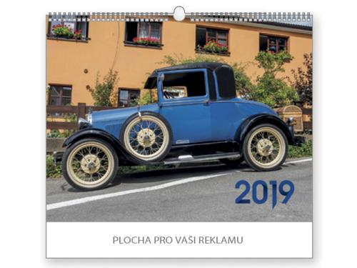 OLD TIMERS 2019 - VETERÁNY nástěnný kalendář, 44x34