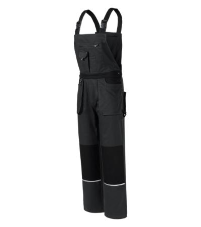 Woody pracovní kalhoty s laclem pánské ebony gray