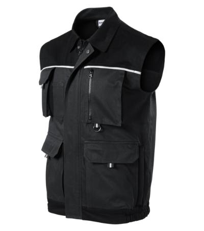 Woody pracovní vesta pánská ebony gray M