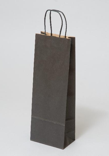 Papírové tašky o rozměru 150 x 80 x 400 mm, černá