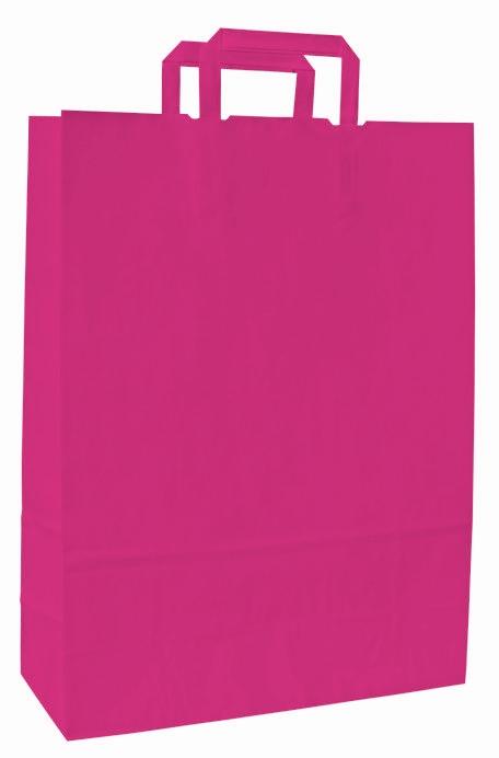 Papírové tašky o rozměru 180 x 80 x 250 mm,růžová