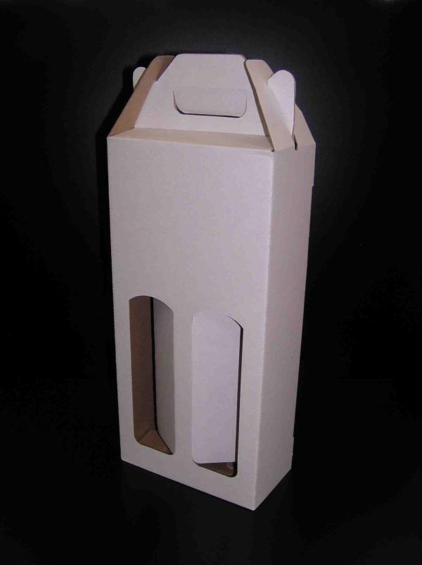 Krabice na 2 láhve 165 x 80 x 345, bílá