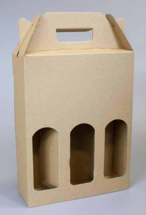 Krabice na 3 piva 210 x 70 x 275 mm, přírodní
